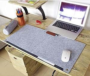 Richoose Felt Desk Mat Multifunctional Felt Computer Desk Pad