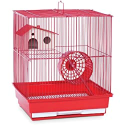 Prevue Hendryx SP2010R Two Story Hamster and Gerbil Cage, Red