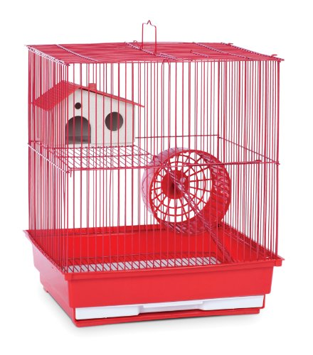 Small Animal Supplies Two Story Hamster & Gerbil Cage - Red