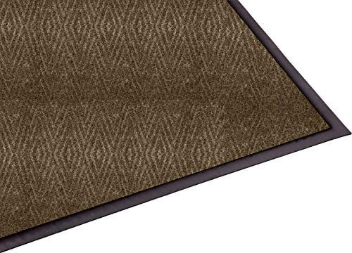 Guardian Golden Series Chevron Indoor Wiper Floor Mat, Vinyl/Polypropylene, 3'x4', Chocolate -