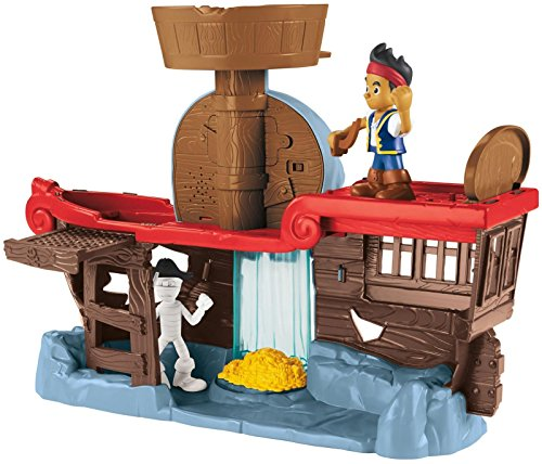 Fisher-Price Jake and The Never Land Pirates - Jake's Battle at Shipwreck Falls (Jake And The Neverland Pirates Action Figures)