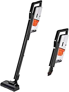Miss Lacy Upright Cordless Vacuum Cleaner with 6.5Kpa Strong Suction Lightweight Handheld Vacuum (Gray)