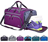 Venture Pal Packable Sports Gym Bag with Wet Pocket & Shoes Compartment Travel Duffel Bag for Men and Women-Purple
