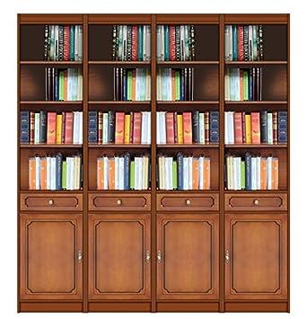 arteferretto meuble bibliothque modulable largeur 200 cm pour salon ou cabinet style classique