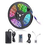 LED Strip Lights, 16.4ft RGB LED Light Strip 5050 LED Tape Lights, Color Changing LED Rope Lights with Remote for Home… 8