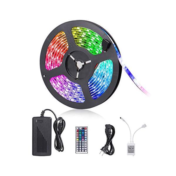 LED Strip Lights, 16.4ft RGB LED Light Strip 5050 LED Tape Lights, Color Changing LED Rope Lights with Remote for Home… 1
