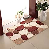 Entrance rug doormat Water-absorbing carpet Bathroom non-slip mat High cotton outdoor mat-B 100x150cm(39x59inch)
