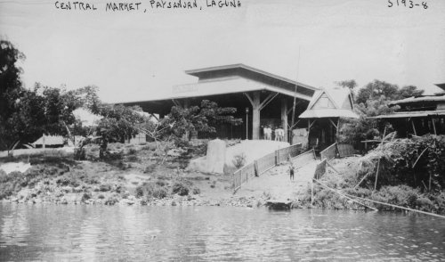 Laguna Phos (early 1900s photo Central market, Paysanjan, Laguna Vintage Black & White Pho f3)