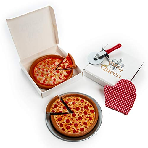 (18 Inch Doll Pizza Party Set. Pepperoni & Cheese Pizzas, Pizza Boxes, Pan, Pizza Cutter & Oven Mitt. Food & Accessory Set Fits American Girl)