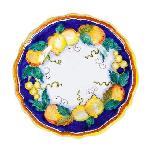 (Daphne Hand Painted Italian Ceramic Salad Plate From Deruta )