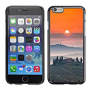 Exotic-Star ( Tosca Landscape Sunrise Wine ) Fundas Cover Cubre Hard Case Cover para Apple iPhone 6(4.7 inches)