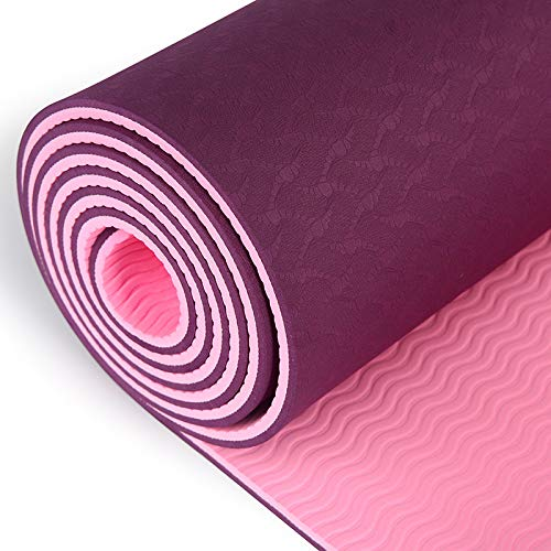 BestFitYoga Yoga Mat, Non Slip and Non Toxic Texture, Eco Friendly, Two Layer Yoga Mat 72 x24 x6mm