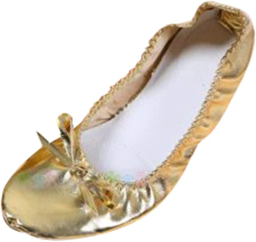 dailymall Chaussure Danse Ballet Gymnastique Chausson Ballerines Dor/é Paillette