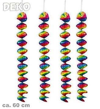 Silvester Geburtstag Karneval 24 Rotorspiralen 24 Stück Deko-Rotor-Spiralen