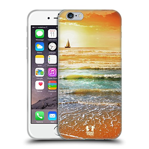 Head Case Designs Sunset And Sailboat Seascape Beautiful Beaches Soft Gel Case for iPhone 6 / iPhone 6s
