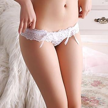 2071cb96a3e2 LOVEN Women Knickers Lace Massage Thon G String Underwear Ladies Sexysexyt  Pants Stamp President Briefs T Pants Lace Low Waist Women'S Underwear  White: ...