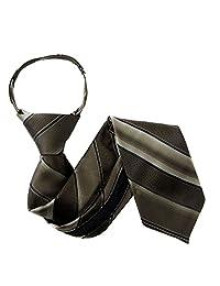 Brown Boys 11 inch Zipper Necktie