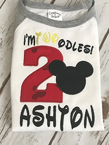 Mickey Mouse Shirt Boys Mickey Mouse Birthday shirt Boys Second Birthday shirt Oh Twoodles Birthday Shirt I'm 2 Mickey Birthday (Mickey Studio)