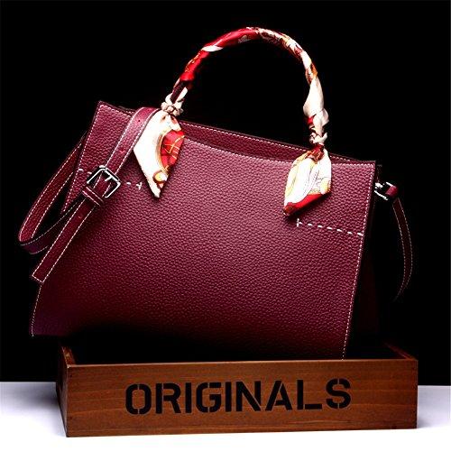 Xuanbao Purple Handbag Bag Messenger Leather Capacity Large Ladies Tote Shoulder OwWUZqO7r