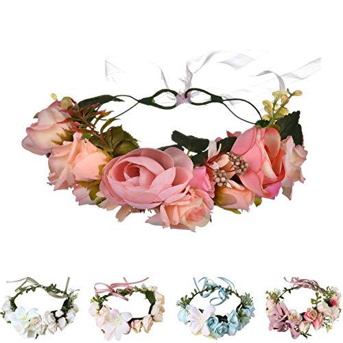 Handmade Adjustable Flower Wreath Headband Halo Floral Crown