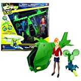 Bandai Year 2010 Ultimate Alien 4 Inch Tall Action Figure Vehicle Set - GWEN's Vortex Helicopter with Missile Launcher and 1 Missile Plus Gwen Figure