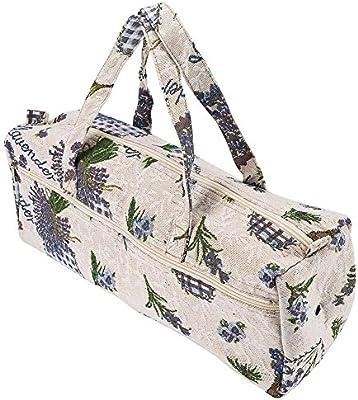 Bolsa de agujas de tejer de tela grande, bolsa de almacenamiento de hilo para el hogar, bolsa de almacenamiento para tejer, herramientas para tejer, ...