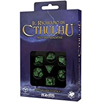 Q Workshop Call of Cthulhu Dice (7th Edition), Black/Green