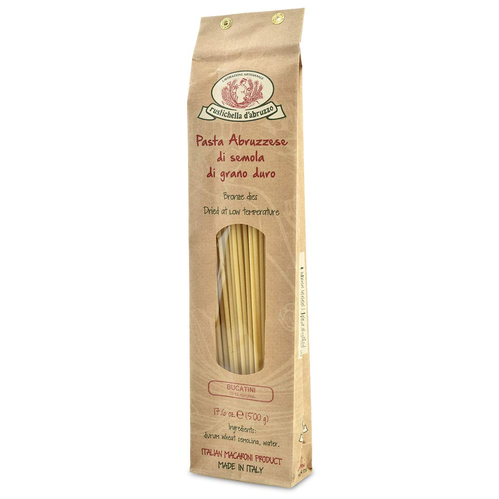 Rustichella D Abruzzo Bucatini Durum Wheat Pasta 500 Gram Noodles And Pasta Grocery Gourmet Food