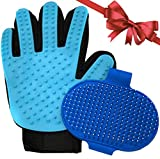 Pet Bath Brush Set - 2 PCS - Dog Bath Brush and Dog Washing Glove - Use Wet or Dry on Dogs and Cats - Best Dog Shampoo Brush and Scratchless Pet Hair Mitt