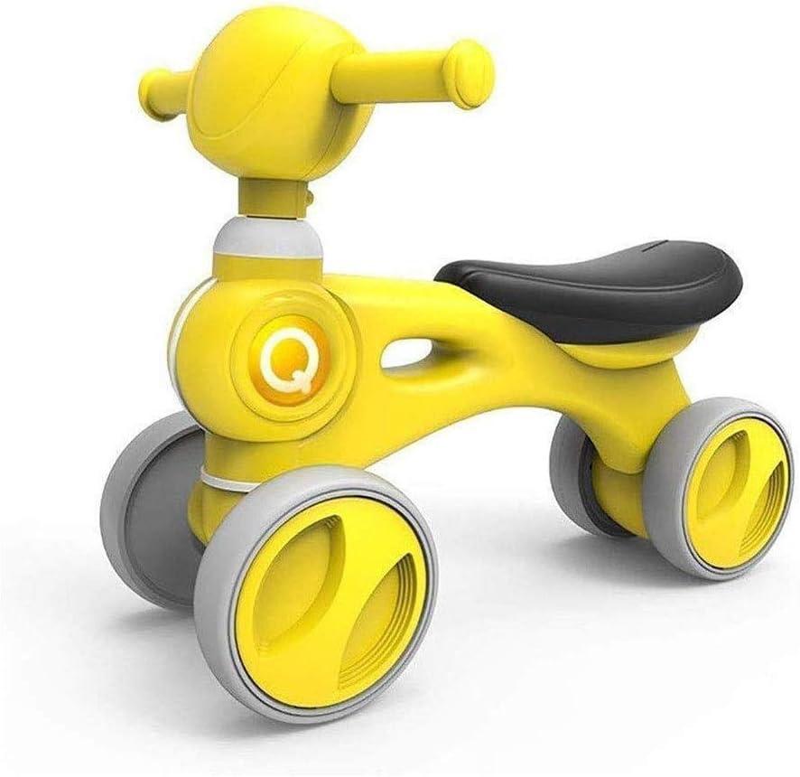 SMLZV Infantil del bebé Bicicleta de Equilibrio del Pedal del pie Sin 10-24 Meses de Bicicletas for niños - de Primer cumpleaños de los niños (Color : Yellow)