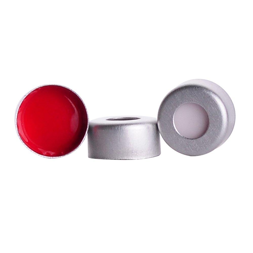 MicroLiter 11-0060A Crimp Seal, 0.060 T/S, Aluminium PTFE/Silicone, 11 mm (Pack of 100) Scilabware