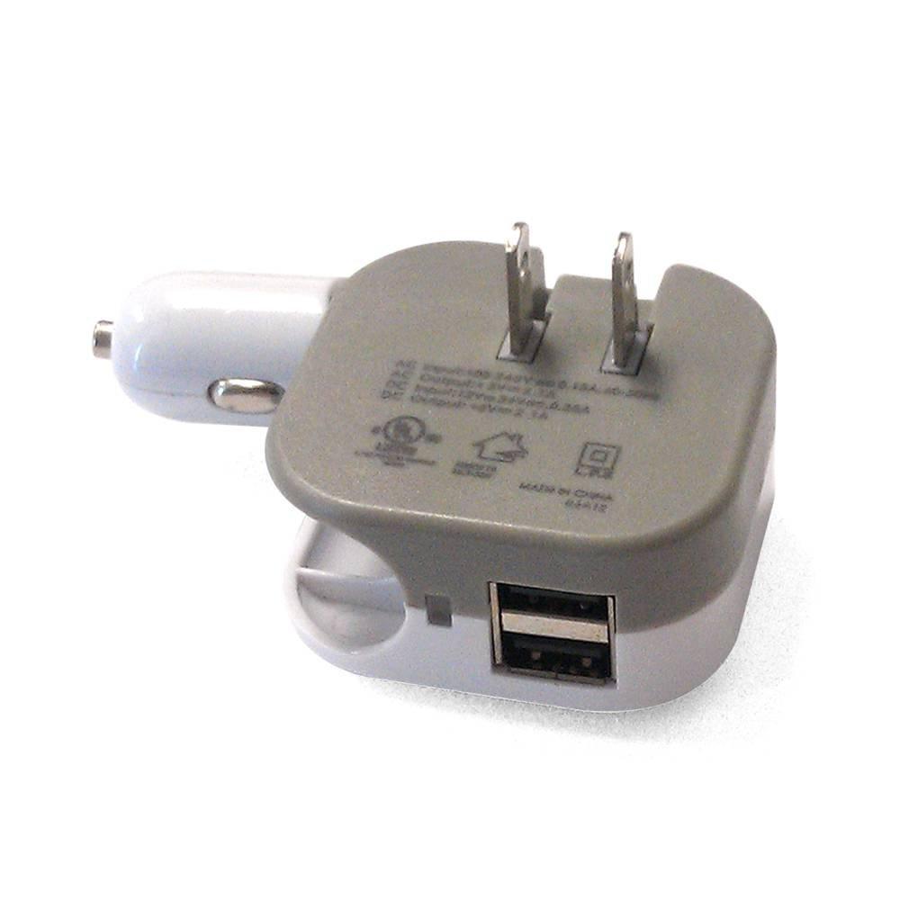 Heavy Dutyコンパクト折りたたみ式Multi - chargerアダプタ(Car/DCと壁/AC/旅行) for Oppo f5、a71、a77、r11 Plus、r9s Plus、r9s (2100 mAh) – ホワイト B0771BQKYR