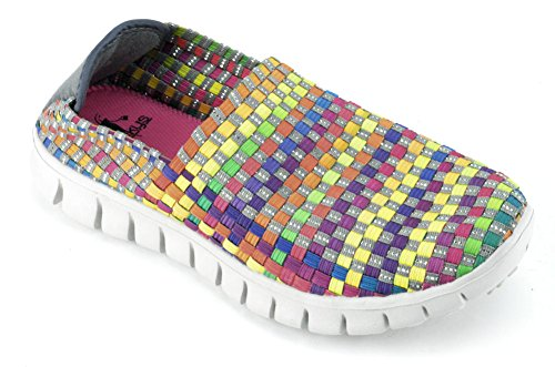Corkys Womens Joann Bright Multi Color Slip On Casual Sneaker Size 7