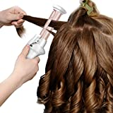 Mini Cordless Curling Iron,Leyeet USB Rechargeable Ceramic Hair Curling Wand Wet & Dry