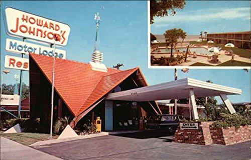 Howard Johnson Motor Lodge, Pool Area in Inset Panama City, Florida Original Vintage Postcard