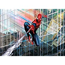 "Wall Mural, Photo Wallpaper Marvel SPIDER MAN RUSH 8'4""x6' spider film comic book hero Action"