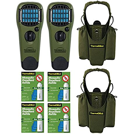 Thermacell Double Camper S Kit 2 Mosquito Repellent Appliances Olive 2 Holsters 4 Refills