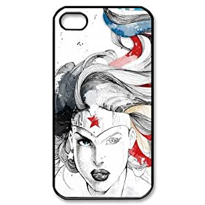 Super Hero Wonder Woman Marvel Cartoon Productive Back Phone Case For Iphone 4 4S case cover -Pattern-6