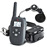 Shock Collar Casfuy Rechargeable Waterproof 1000ft Remote Dog Training Collar with Beep Vibration Harmless Shock for Small Medium Large Dog (6.6-120 lbs)