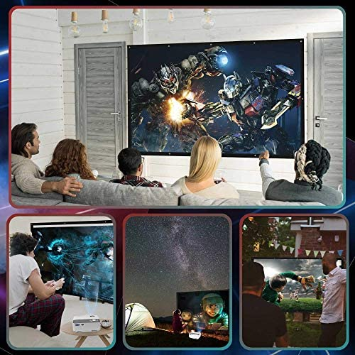 """Projector, Mini WiFi Projector 1080P Supported with Tripod, 5500Lumens 240"""" Display Portable Outdoor Movie Projector, Wireless/Wired Mirroring Phone Projector for iOS/Android/TV Stick Home & Outdoor"""
