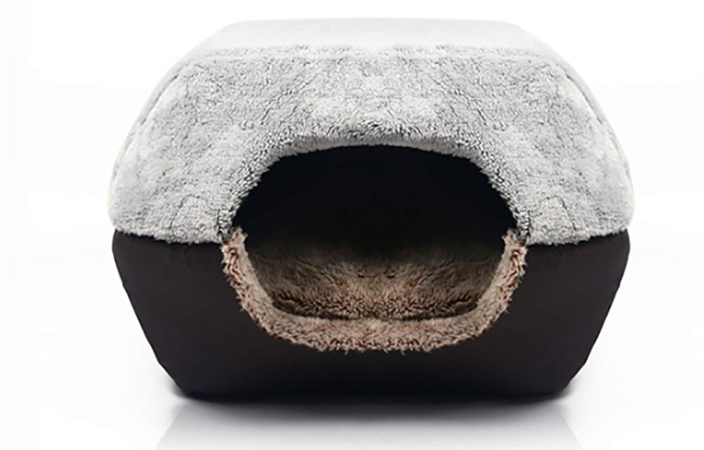 Foldable Mongolian Yurts Soft Warm Cat Dog Bed House Pet Cave Mat Pad Nest Pet Beds 2 Uses Pet Dog Kennel