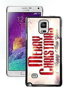 Customization Merry Christmas Black Samsung Galaxy Note 4 Case 81