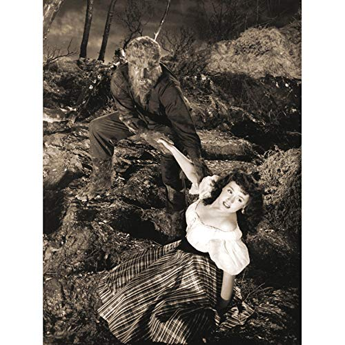 Film Black White Monster Halloween Wolfman Werewolf Large Art Print Poster Wall Decor 18x24 inch