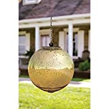 Carson 8 inches Gold Shimmer Glass Solar Orb