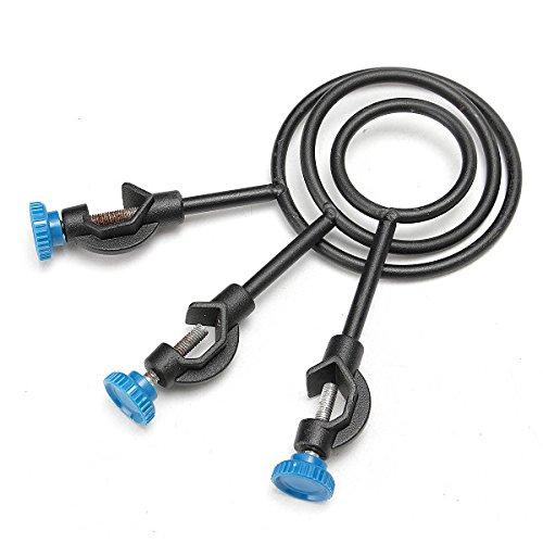 3Pcs Lab Stand Loop Kit, KISENG Metal Support Ring With Jackscrew for Flask 65mm/85mm/100mm by KISENG (Image #4)