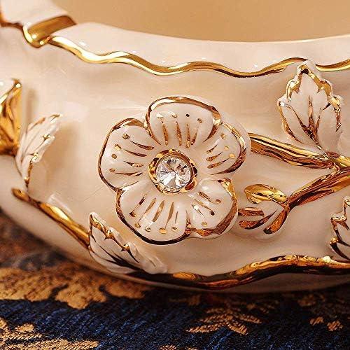 Luckya 欧州のパーソナリティ大型セラミック灰皿リビングルームホームデコレーション灰皿ギフト6.5X15cm