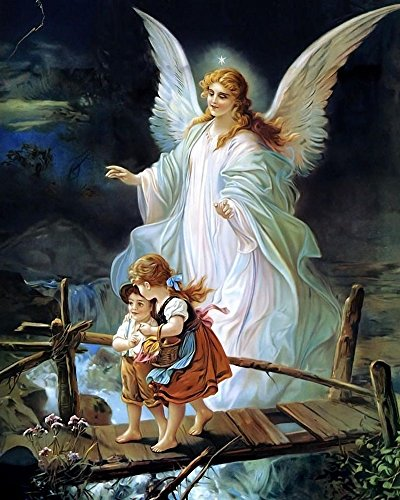 Jesus Christ Guardian Angel / Christian 8 x 10 GLOSSY Photo Picture Photo Jesus Christ