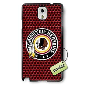 NFL Washington Redskins Team Logo Samsung Galaxy Note 3 Black Rubber(TPU) Soft Case Cover - Black