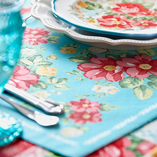The Pioneer Woman Vintage Floral Design Placemat Set of 4, Reversible by Pioneer Woman (Image #2)