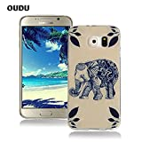 OuDu Silicone Case for Samsung Galaxy S6 Soft TPU Rubber Cover Flexible Slim Case Smooth Lightweight Skin Ultra Thin Shell Creative Design Cover - Lovely Elephant